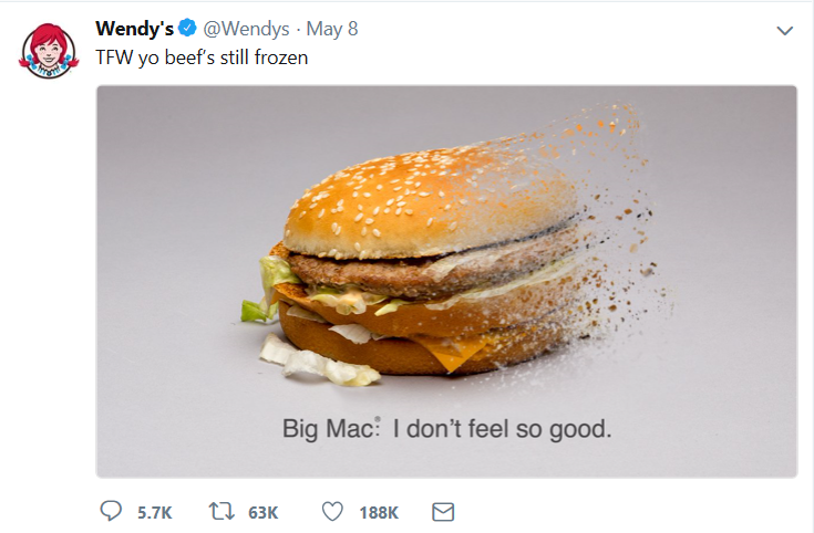 wendys twitter post